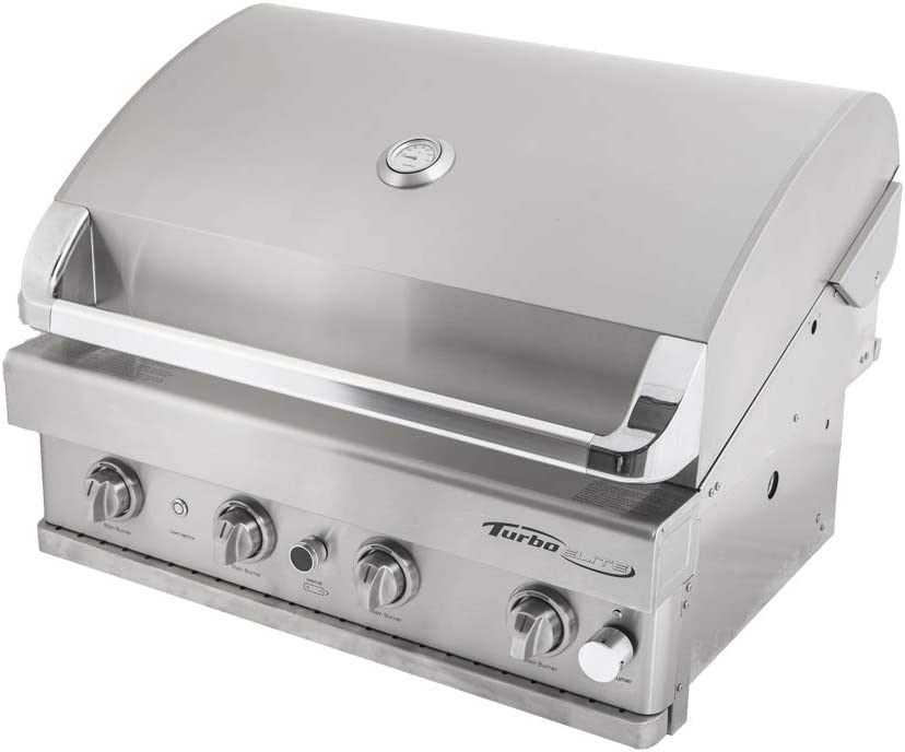 Barbeques Galore Turbo Elite 4-Burner Built-in Gas Grill Natural Gas