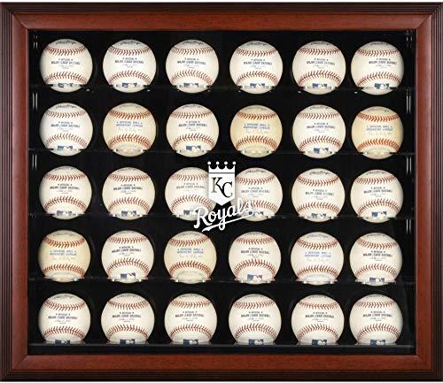Mounted Memories Kansas City Royals Memorabilia - Mounted Memories Kansas City Royals 30-Ball Mahogany Baseball Display Case