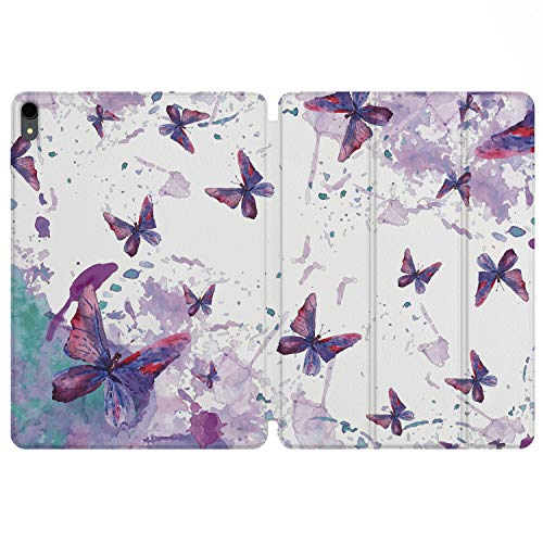 Lex Altern iPad Case Pro 11 inch 12.9 Magnetic Cover 2019 2018 3d Generation Apple Protective Hard Shell Folio Trifold Smart Auto Wake Sleep Pencil Butterfly Watercolor Cute Kids Disney Girl Print ()