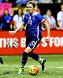 Abby Wambach Autographed Photograph - 8X10 Dribbling Ball Womens USA Olympics) - Autographed Soccer Photos