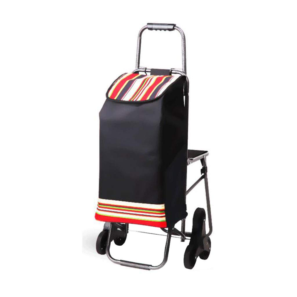 ショッピングカートショッピングトロリートロリースーツケース折りたたみ車ポータブルトロリー階段トロリー家庭用トロリー (色 : Red)  Red B07K31HFFJ
