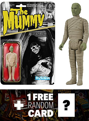 Mummy: Funko ReAction x Universal Monsters Action Figure + 1 FREE Classic Horror Movies Trading Card Bundle (040895)