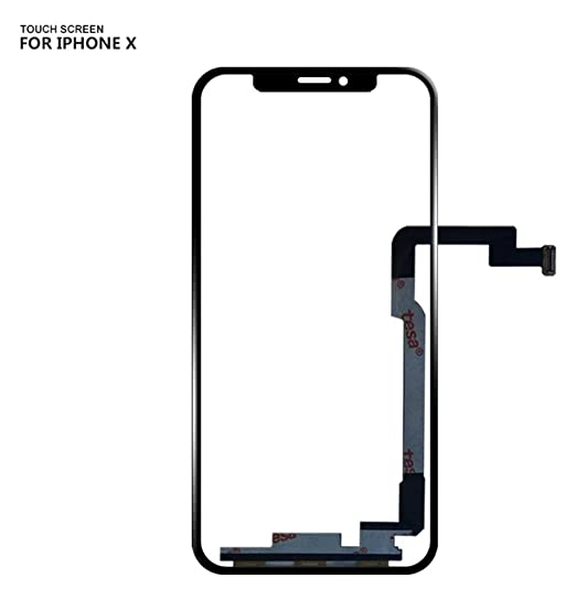 top fashion 864d5 b89f3 for iPhone X 10 Front Touch Screen Glass Touch Panel Digitizer (NO LCD  Display) Front Glass Outer Screen Glass Lens Replacement