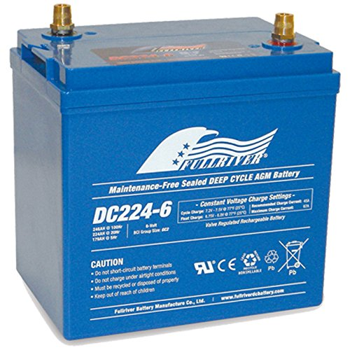 Fullriver Group GC2 6V 224Ah T-105 AGM Sealed Lead Acid Battery by Fullriver