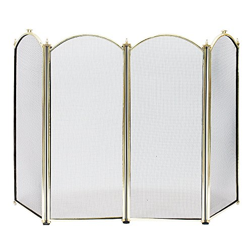 4 Panel Fireplace Screens (Minuteman International SCR-01 4F Screen)