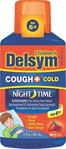 Delsym Childrens Cough Suppressant (Delsym Children's Cough + Cold Night Time Liquid, Berry, 6oz)