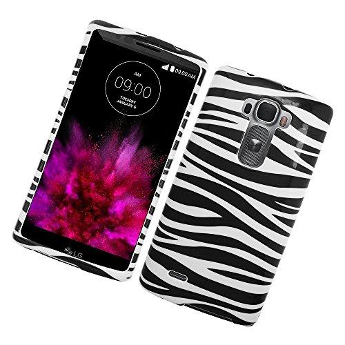LG G Flex 2 Case, Insten Zebra Rubberized Hard Snap-in Case Cover for LG G Flex 2, Black/White