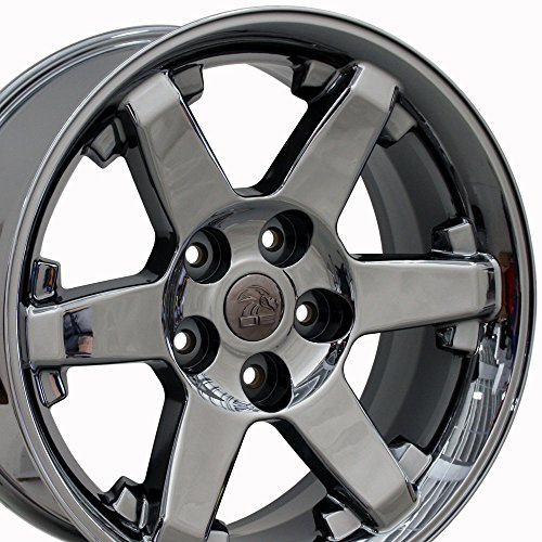 20×9 Wheel Fits Dodge, RAM Trucks – RAM Style Black Chrome Rim, Hollander 2365