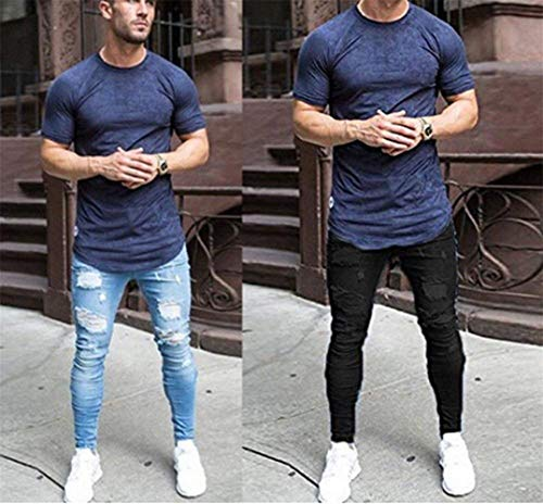 Di Taglio In Con Design Denim Stretch Ragazzi Pantaloni Skinny Hellblau Jeans Classiche Aderenti Pants Uomo Fashion Super Trunks Da Scarni 7wzwdqxRp