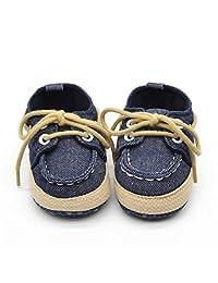 Voberry® Newborn Baby Boys' Premium Soft Sole Infant Prewalker Toddler Sneaker Shoes