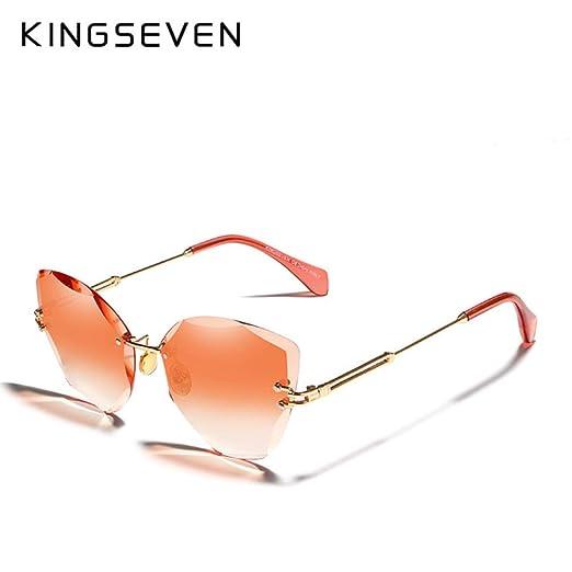 Yangjing-hl Lady Gafas de Sol Mujer Gafas de Sol Marco de ...
