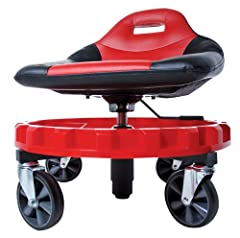 This seat is designed for comfort when sitting for long periods. The huge 5 inch casters constructed of Hard TPR Synthetic Rubber, allow the mobile technician to roll right over rough terrain and even small parts, cords and hoses.