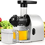 Kemanner Slow Masticating Juicer Cold-Press Juicer Extractor Machine for High Nutrient Fruit and Vegetable with Quiet Motor, Juice Jug and Cleaning Brush