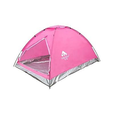 Tente de haute qualité - Tentes de plein air de camping 2 personnes pluie Une seule couche camping tente --Confort de voyage à l'extérieur VENTE