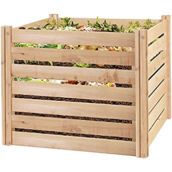 Greenes Fence RCCOMP36 Cedar Wood Composter, 23.25  Cu ft / 173.92 gallons