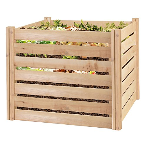 Greenes Fence RCCOMP36 Cedar Wood Composter, 23.25 Cu ft/173.92 gallons by Greenes Fence