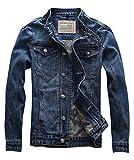 Idopy Men`s Motorcycle Slim Fit Distressed Biker Jean Denim Jacket US M(Tag XL) 671