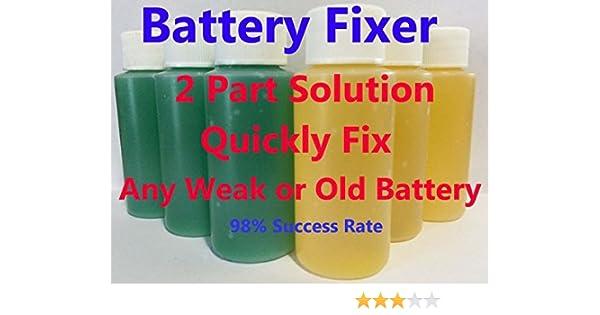Amazon Com Battery Fixer Golf Cart Battery Restore Liquid Solution