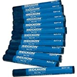 "Dixon 52112 Lumber Marking Crayons, Soft Blue, 4-1/2 x 1/2"" Hex, Pack of 12"