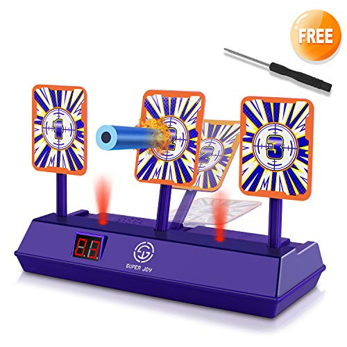 Target 2019 Halloween Clearance (AOKESI (2019 Rival Series) Electric Shooting Digital Target for Nerf Guns,Scoring Auto Reset for Nerf Guns Blaster with Wonderful Light and Sound Effect, Perfect for N-Strike)