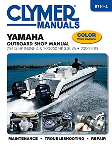 yamaha outboard shop manual 75 115 hp inline 4 200 250 hp 3 3l v6 rh amazon com Yamaha QT 50 Wiring Diagram Tw200 Wiring Diagram