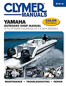 40 hp yamaha 2015 outboard service manual yamaha outboard shop manual 75 115 hp inline 4 200 250 hp 3 3l v6 rh amazon com 40 hp yamaha outboard impeller yamaha 40 outboard wiring diagram