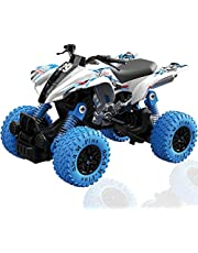CORPER TOYS Pull Back 4WD Off Road Vehicle 1:32 Scale Pull Back Rock Crawler Monster Truck High Speed Racing Car for Kids Children (Blue)