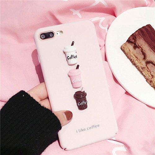 MXNET IPhone 7 Plus Fall, ich mag Kaffee-Wort-Muster-schützende rückseitige Abdeckungs-Fall CASE FÜR IPHONE 7 PLUS ( Color : Pink )