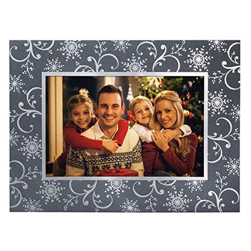 (Silver Snowflake Photo Christmas Card, Set of 18)