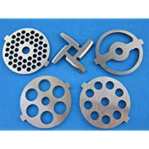 (5) Pc SET New Grinding plate discs and knife for Kitchenaid Mixer FGA Food Chopper and Meat Grinding