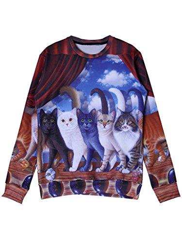 Persun Womens Crewneck Sleeve Sweatshirt