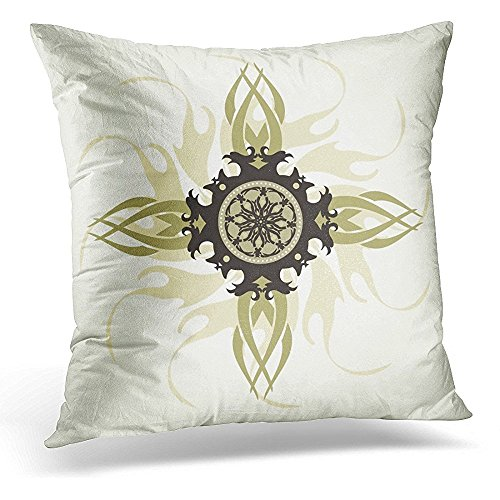 Throw Pillow Cover Tribal Cross Holy Trinity Admiration Baptist Decorative Pillow Case Home Decor Square 16x16 Inches Pillowcase by Starobos