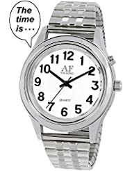2nd GENERATION Talking Watch! Men Alarm Day-Date low vision metal Talking Watch (1091)(M106)