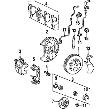 Amazon Com Mercedes Benz 201 540 03 17 Disc Brake Pad Wear Sensor