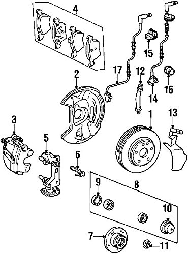 Amazon Com Mercedes Benz 001 420 31 83 Disc Brake Caliper Automotive