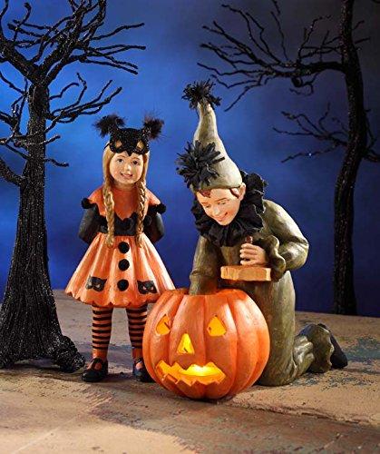 Halloween Lighting The Pumpkin Figurines Trick Or Treat Bethany Lowe (Saturday Evening Post Halloween)