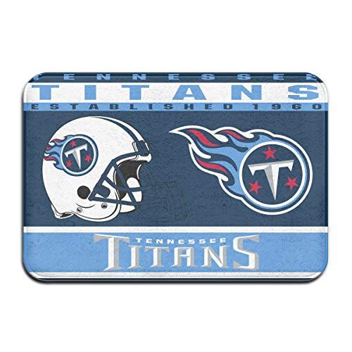 - Dalean Tennessee Titans Anti-Sliding Door Mat Floor Mat,Do Not Fade,15.75inx23.62in,Suitable Indoor Floor MATS Such As Entrance, Bathroom,Bedroom,Toilet,Etc