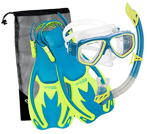 Cressi Rocks Kids Set, cool blue, L/XL