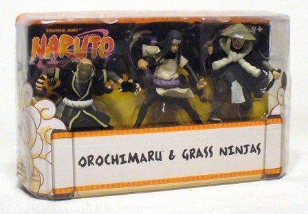 Naruto Mattel 3 Inch Mini Figure 3-Pack #1 (Orochimaru & Grass Ninjas)