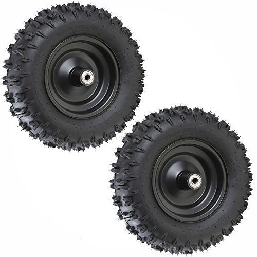 WPHMOTO 4 Sets of 4.10-6 Go Kart ATV Tubeless Tires with Rims | Front and Rear Tire for Scooter Quad Bikes 4 Wheelers by WPHMOTO (Image #3)
