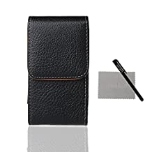 xhorizon ™ ZA5 Large Size Vertical Premium PU Leather Magnetic Closure Holster Bag Case Pouch with Rotating Belt Clip for iPhone 6 Plus (5.5 inch) Samsung Galaxy Note II/III/4 HTC Desire Eye LG G2/G3/G4 Sony Xperia Z1/Z2/Z3/Z3+(Z4) Or Other Smartphone of Big Screen(about 5.5 inch)