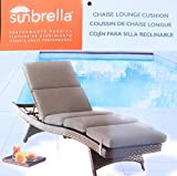 Sunbrella 75x25 Tan Chaise Lounge Cushion Chair Pad Replacement New