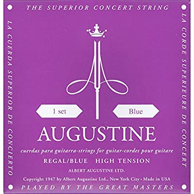 Augustine AUGREGALBLUSET Regal Blue High Tension Nylon Classical Guitar Strings from Augustine