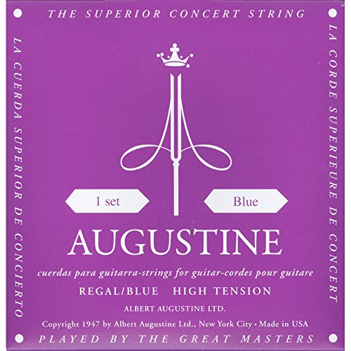 Augustine AUGREGALBLUSET Regal Blue High Tension Nylon Classical Guitar Strings Daddario Nylon Folk Strings