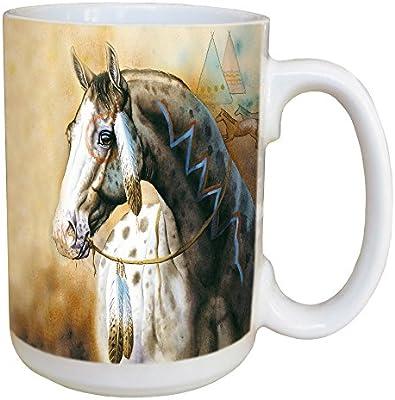 Tree-Free Greetings LM46288 Spirit Horse 15 Ounce Ceramic Coffee Mug with Full Sized Handle