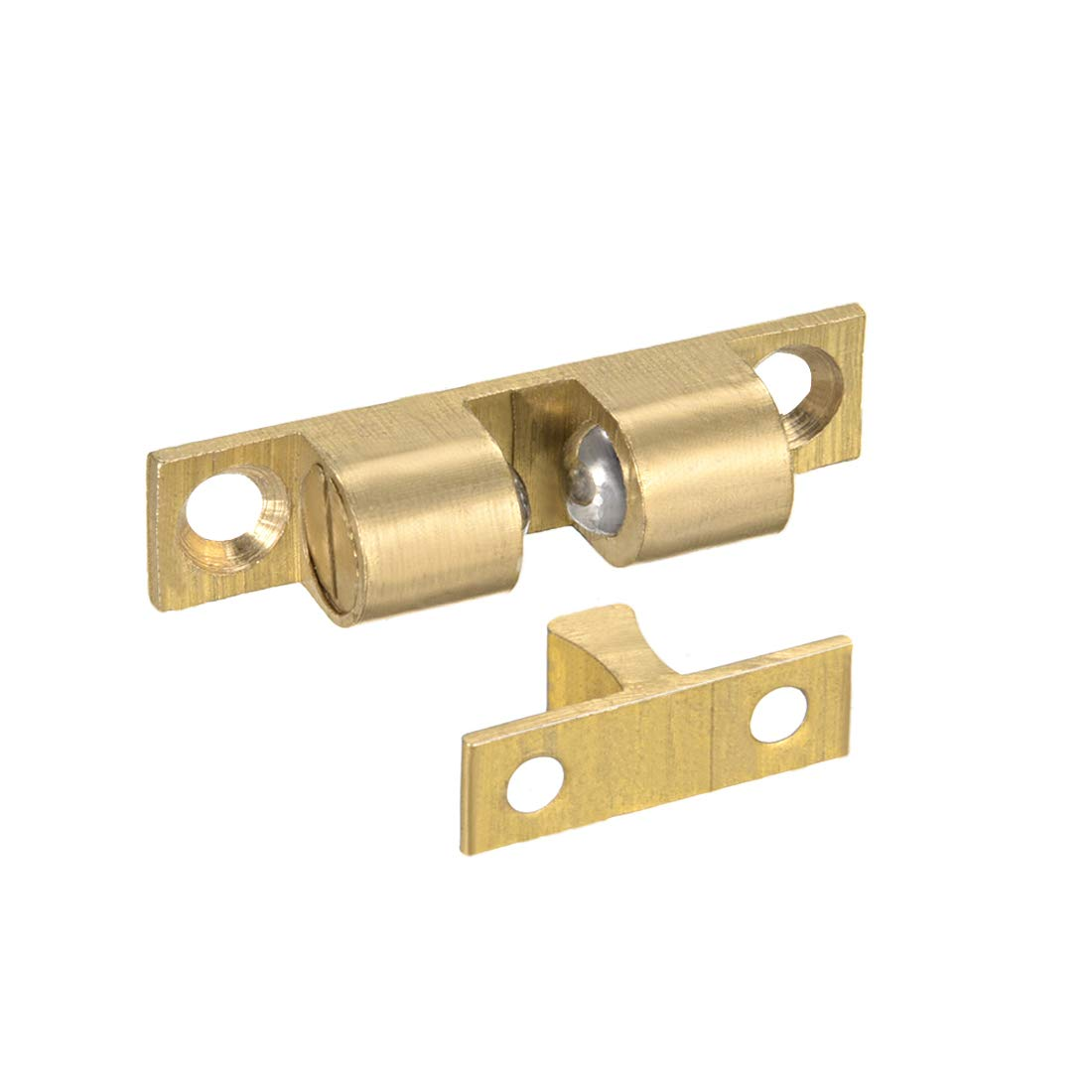 uxcell 50mm Furniture Cabinet Door Brass Dual Ball Roller Catch Latch 10 Pcs a14111100ux0093