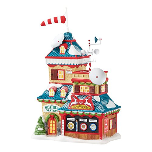 (Department 56 4050963 North Pole Series North Pole Weather Station)