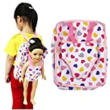 Fiaya 18 inch Our Generation American Girl Doll Lovely Backpack Carrier Adorable Accessory