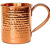 Melange Set of 12 Copper Classic Mug for Moscow Mules - 24 oz - 100% Pure Hammered Copper - Heavy Gauge - No lining - Includes FREE Recipe book