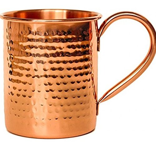 Melange Set of 12 Copper Classic Mug for Moscow Mules - 24 oz - 100% Pure Hammered Copper - Heavy Gauge - No lining - Includes FREE Recipe book by Melange